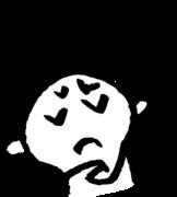 悩む顔 Trouble faceのイラスト