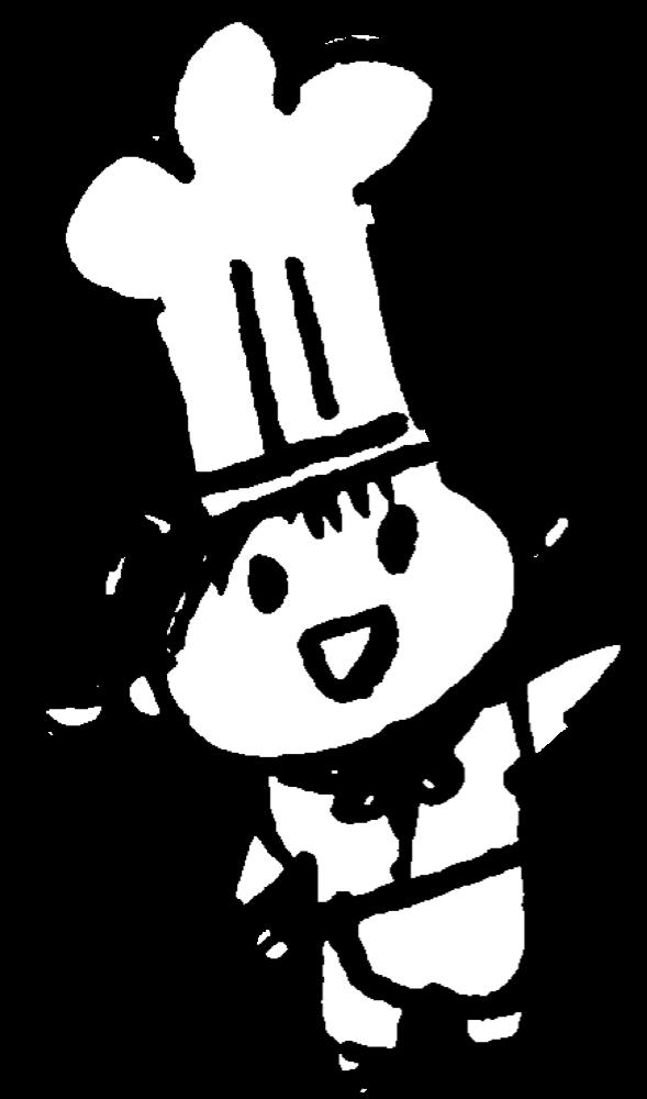笑顔のコックさん(女)Female cookのイラスト