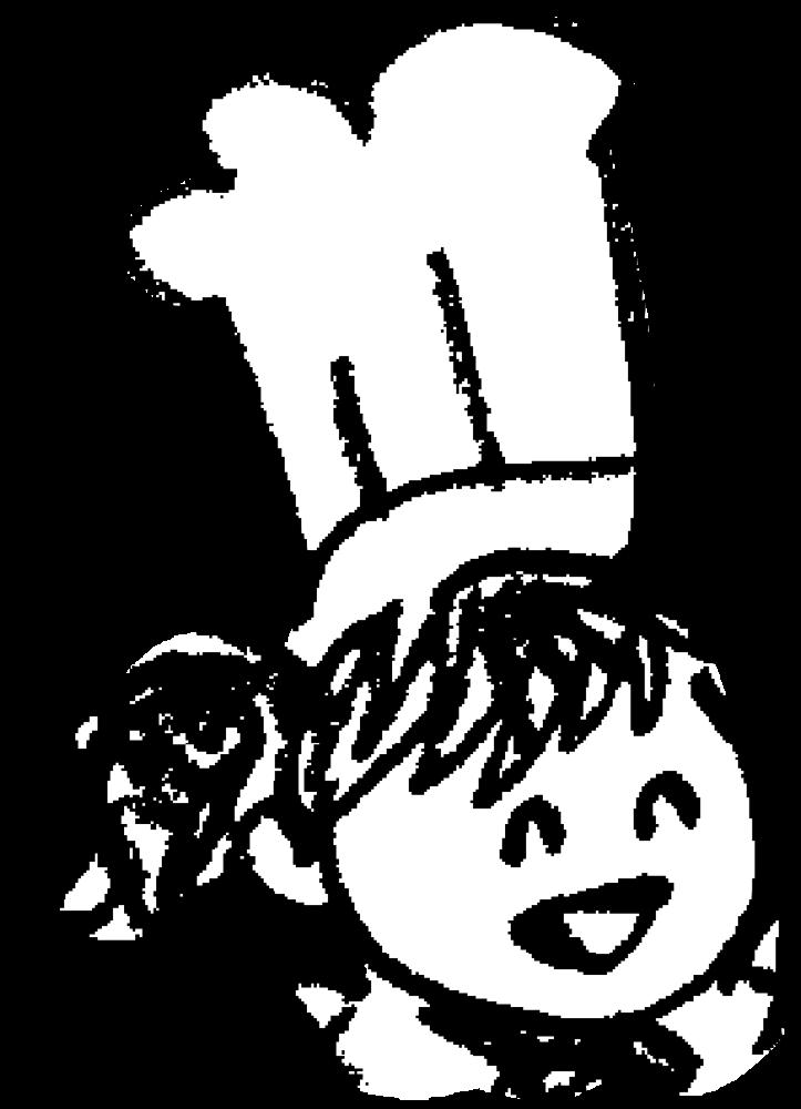 笑顔のコックさん(女)Smiley cookのイラスト
