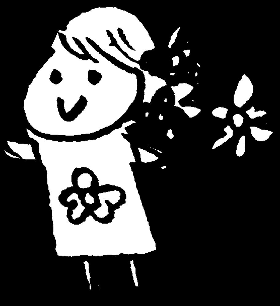 花を持つ花屋の女性 Flower shopのイラスト