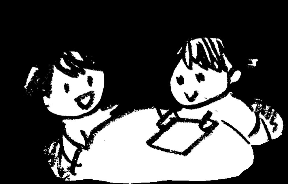 女子の打ち合わせ Discussionのイラスト