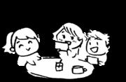 打合せ、雑談 Meeting, chatのイラスト
