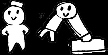 人とロボット People and robotsのイラスト