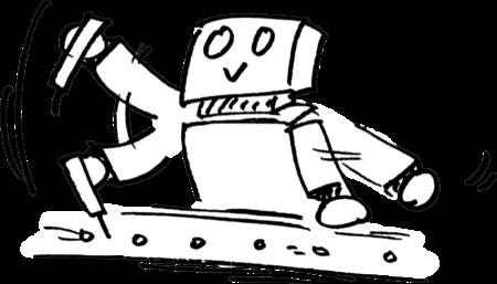 働き者ロボット Working robotのイラスト