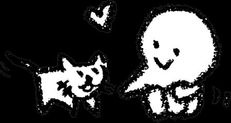 猫大好き Cat & meのイラスト