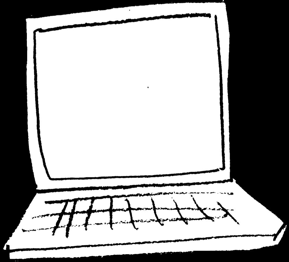 ノートパソコン Laptopのイラスト