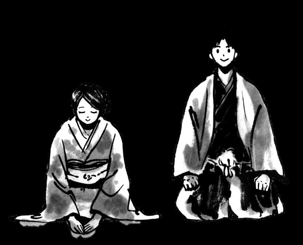 季節の挨拶 Thanking samuraiのイラスト