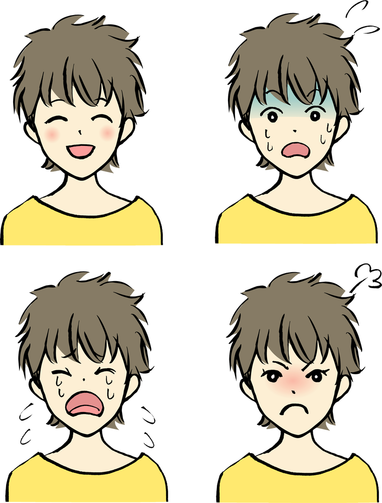 表情(喜怒哀楽)Emotionsのイラスト