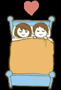 眠るカップル sleep coupleのイラスト