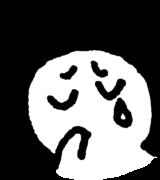 泣く顔 Crying faceのイラスト