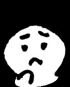 悩む顔 Troubled faceのイラスト