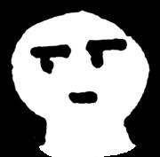 しらけ顔 boringのイラスト