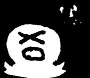 困った顔 Troubled faceのイラスト