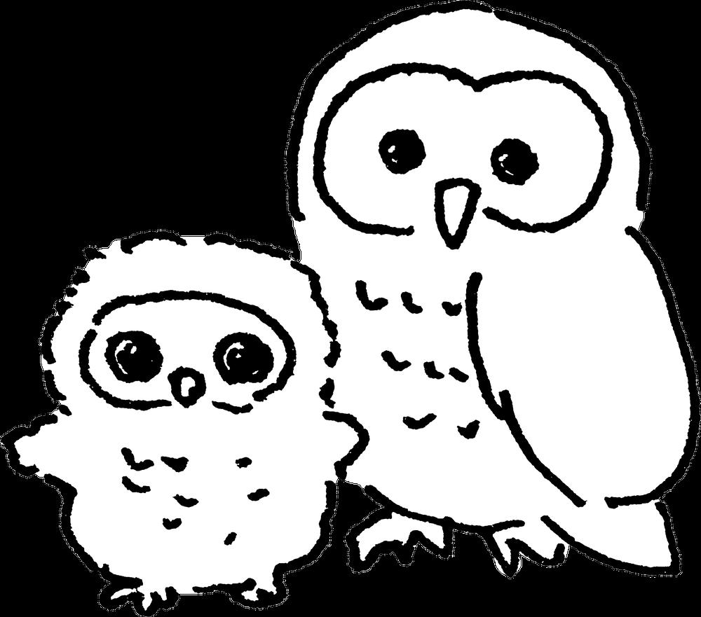 ふくろうowlのイラスト illustration