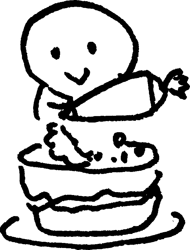 diet_ダイエット_太る ケーキ cakesのイラスト