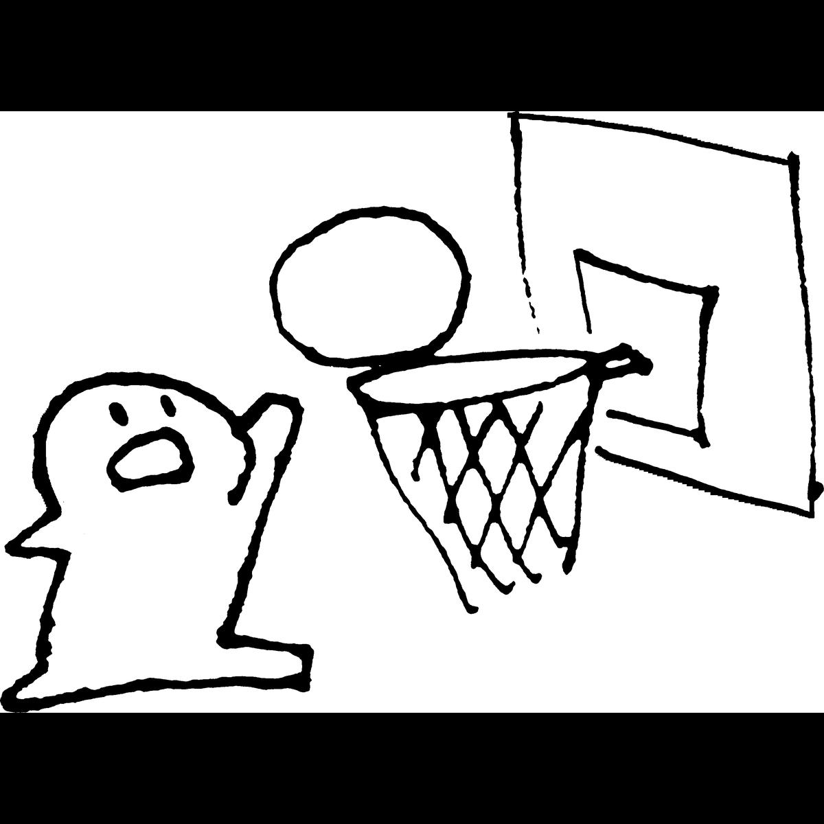 バスケットボールのイラスト てがきですのb かわいい ゆるい無料イラスト