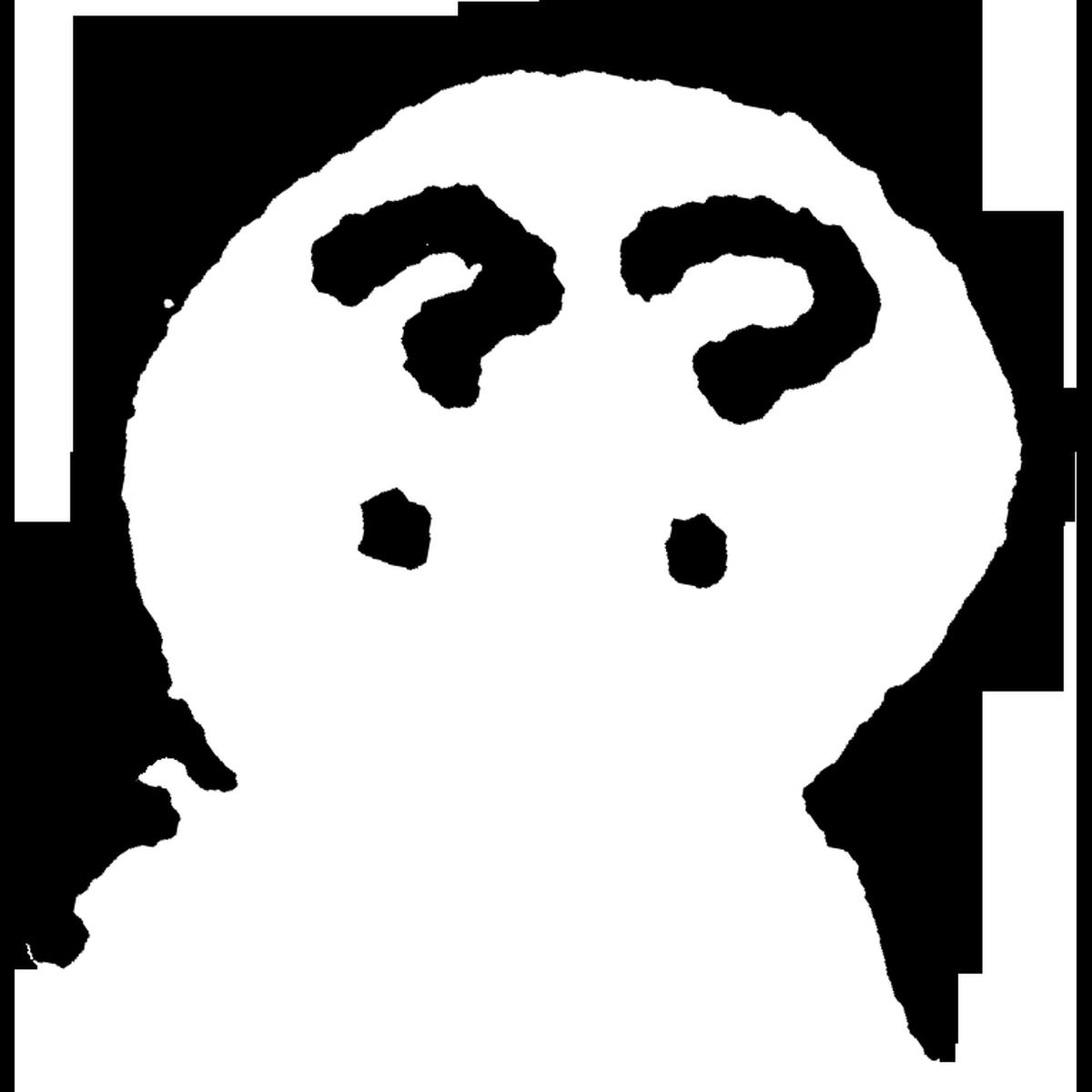 はてなの目Bのイラスト Question