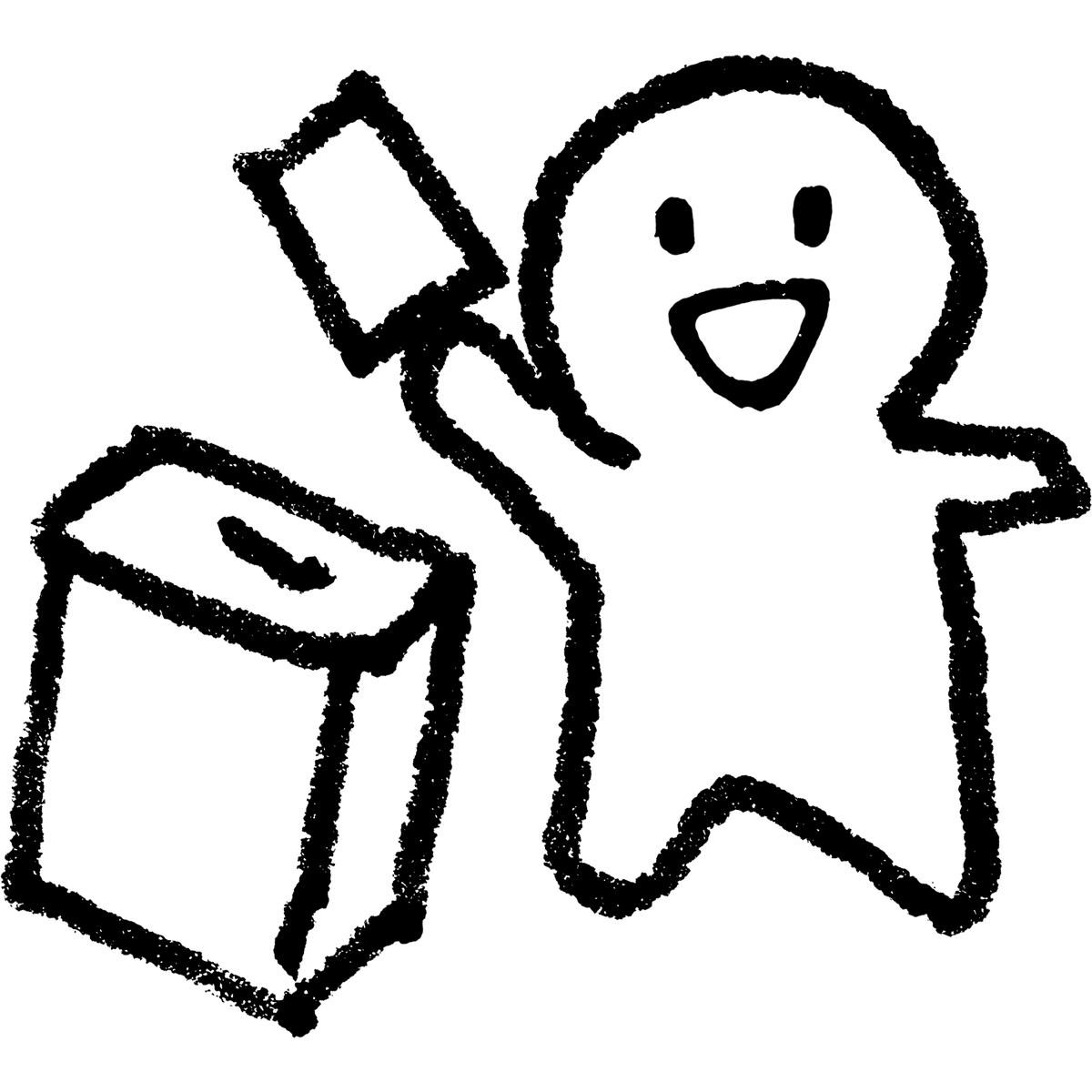 紙を箱に入れる/選挙1のイラスト election_illust