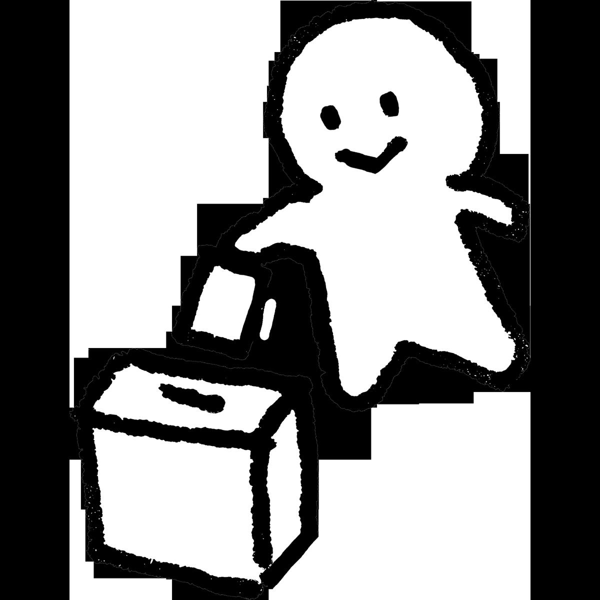紙を箱に入れる/選挙2 のイラスト election_illust