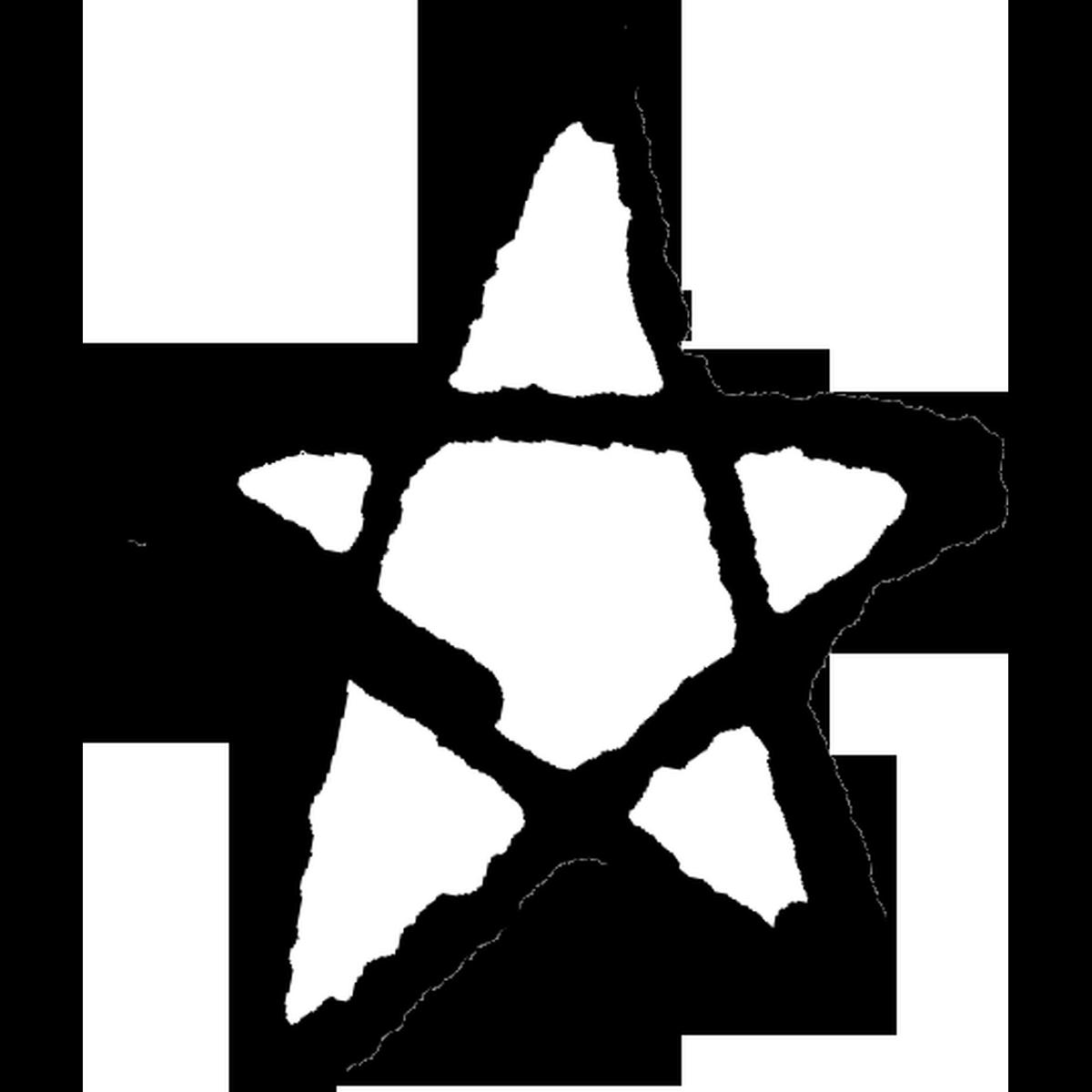 星印(線)1のイラスト Stars mark 1 Illust