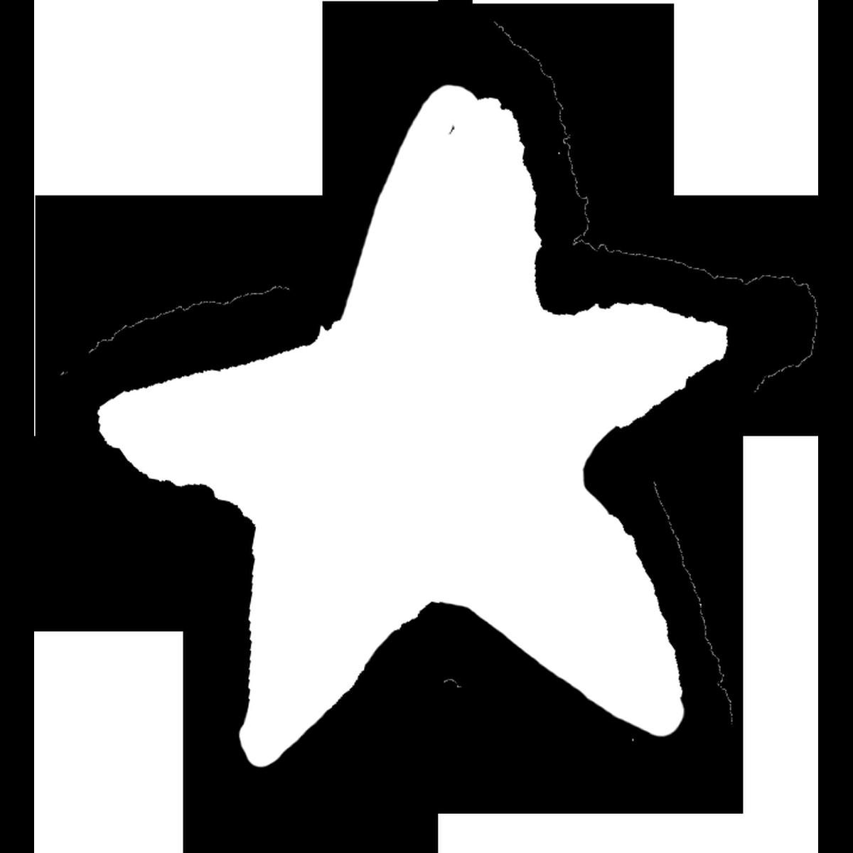 星印(白)2のイラスト Star mark Illust