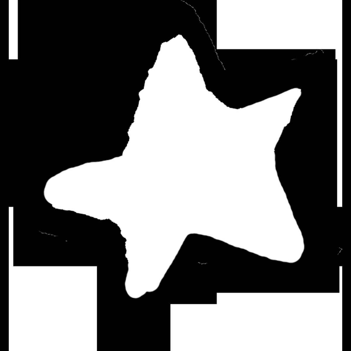 星印(白)4のイラスト Star mark Illust