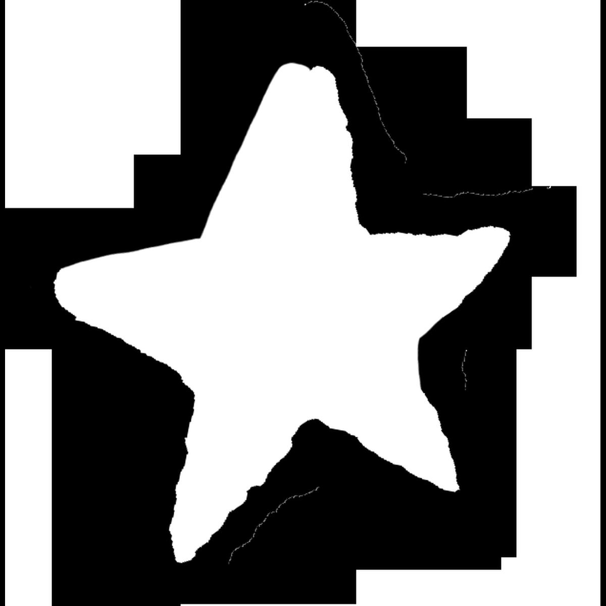 星印(白)1のイラスト Star mark Illust