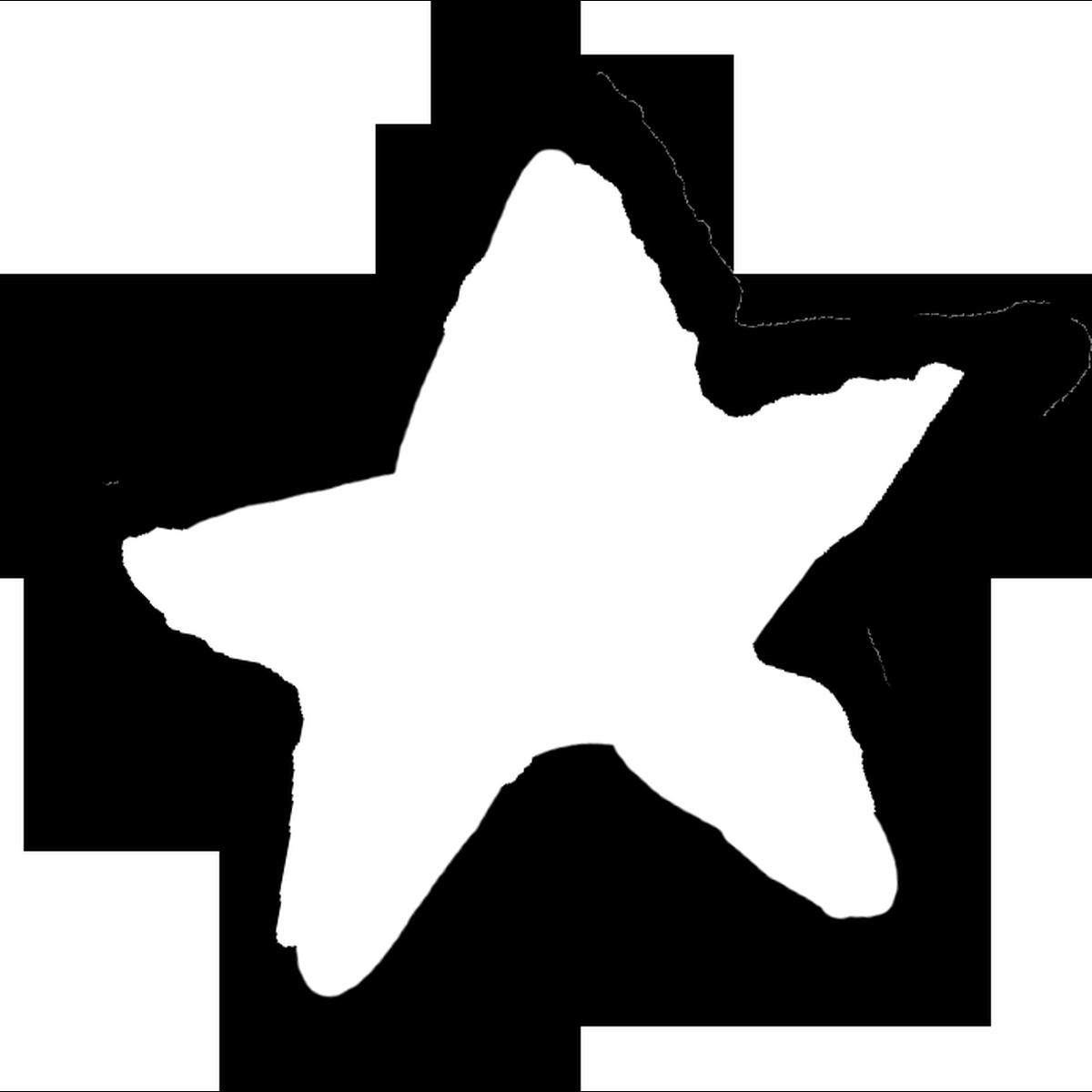 星印(白)3のイラスト Star mark Illust