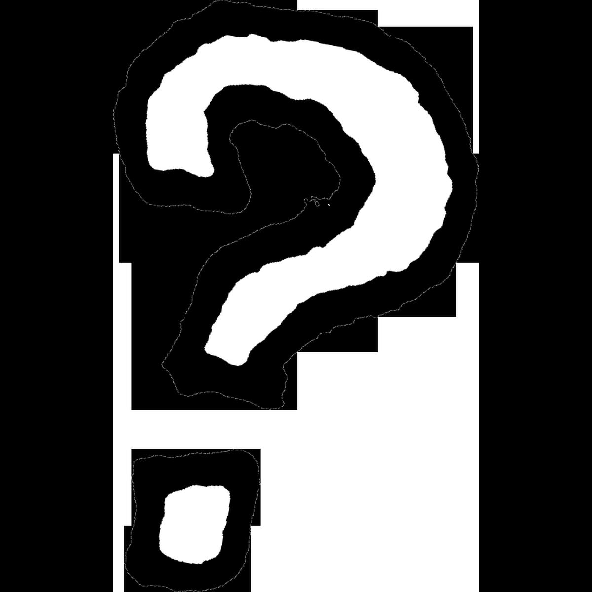 はてなマーク1のイラスト Question mark Illust