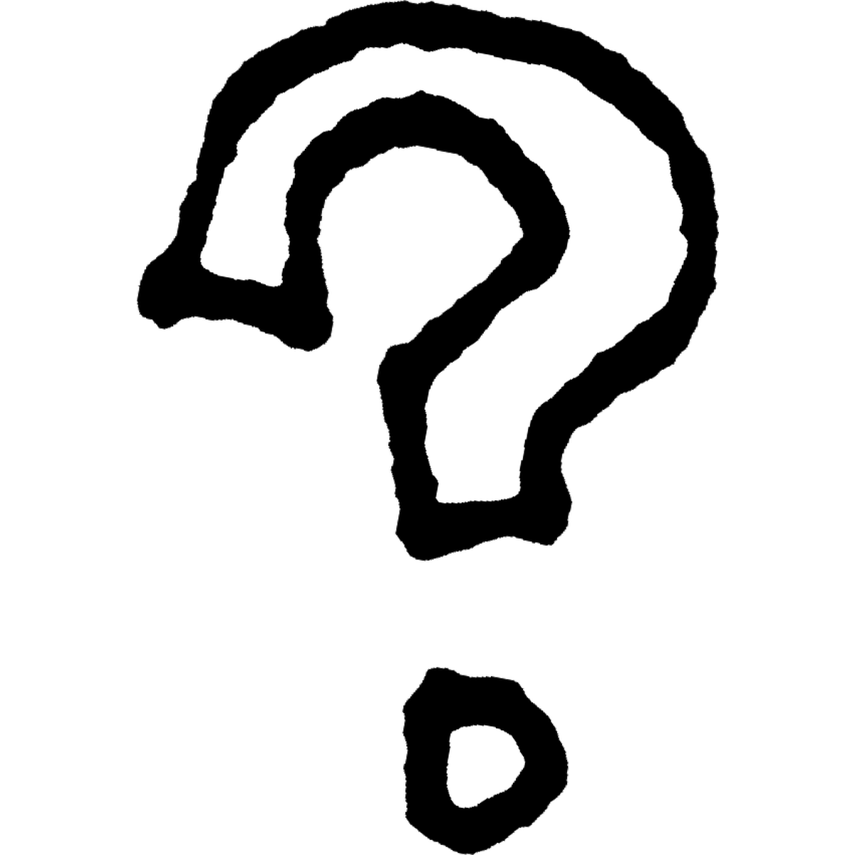 はてなマーク2のイラスト Question mark Illust