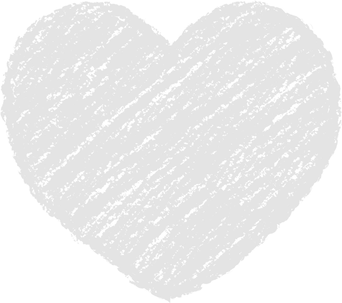 クレヨン塗り背景 パステル ねずみ色 新(グレー)ハートのイラスト heart_gray