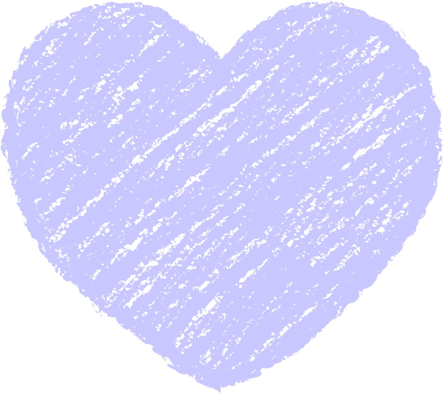 クレヨン塗り背景 パステル 紺色 新(ネイビー)ハートのイラスト heart_navy