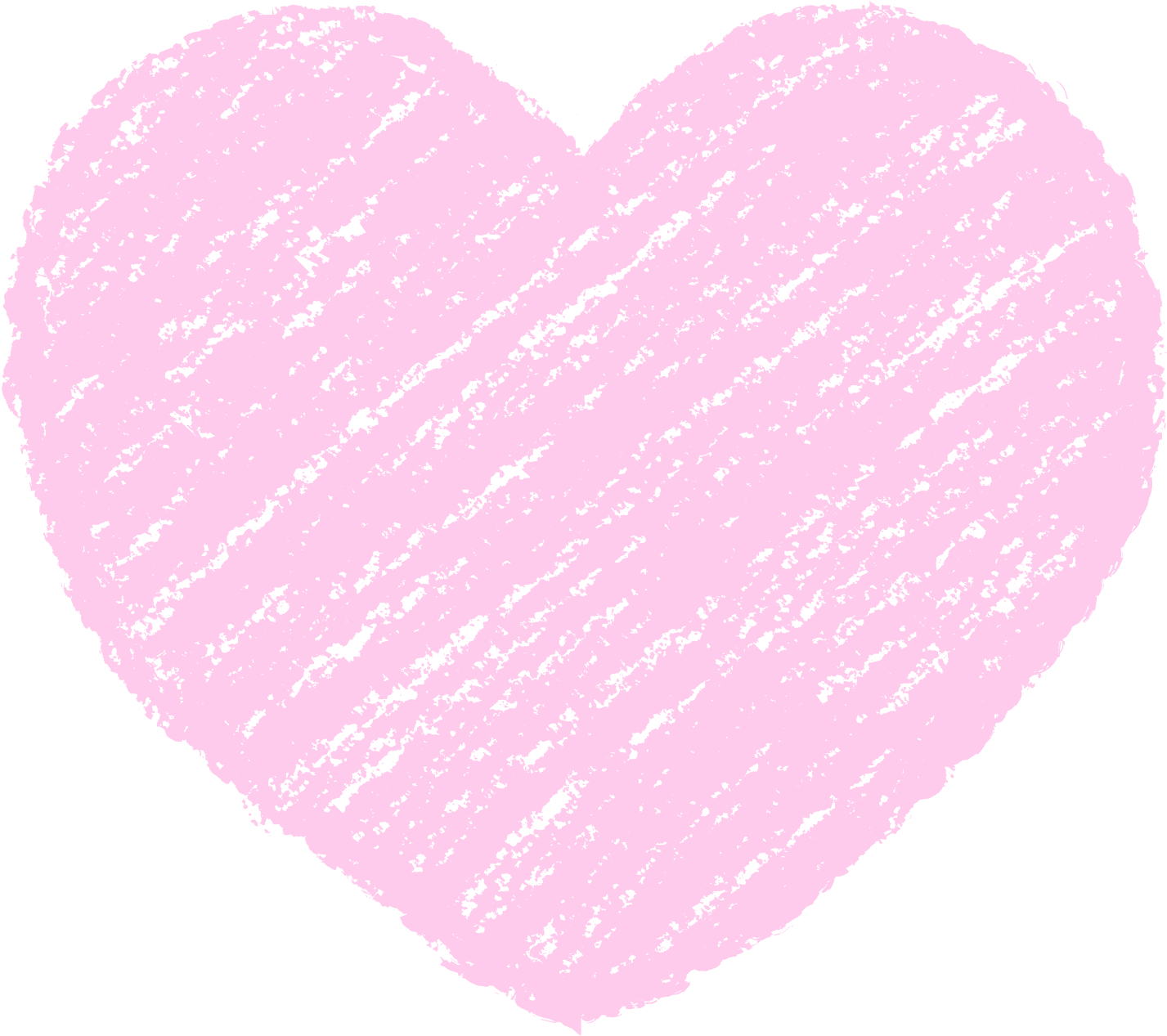 クレヨン塗り背景 パステル 桃色 新(ピンク)ハートのイラスト heart_pink