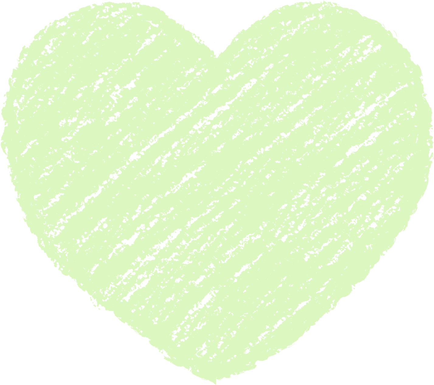 クレヨン塗り背景 パステル 黄緑色 新(イエローグリーン)ハートのイラスト heart_yellowgreen