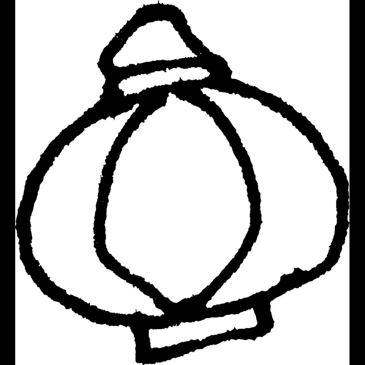 提灯(ちょうちん)丸型のイラスト