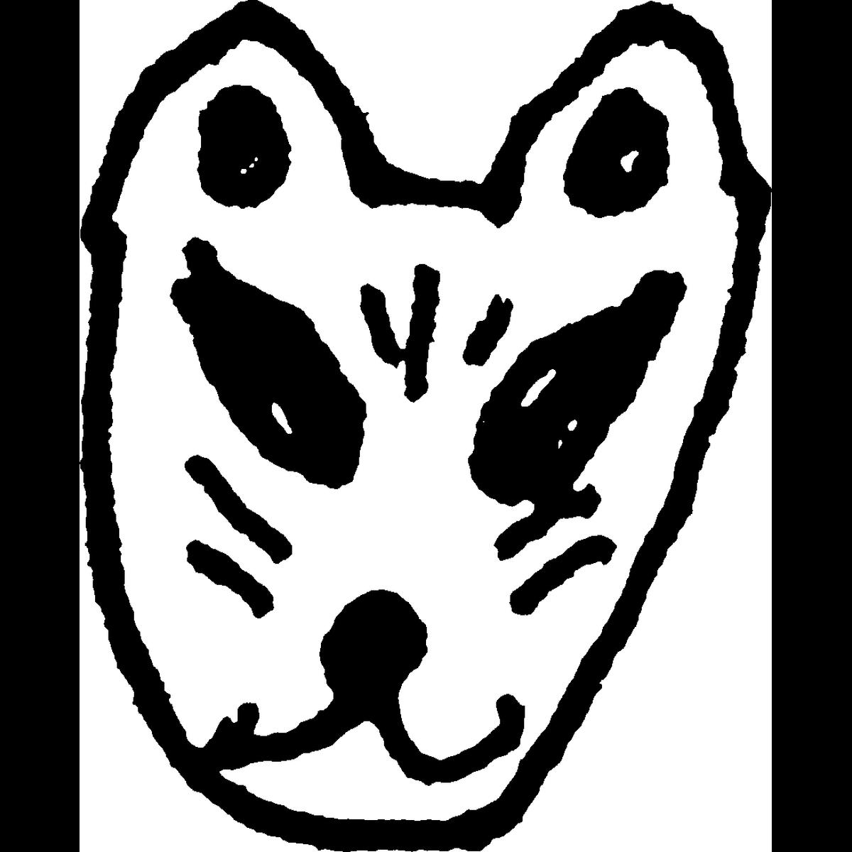キツネ・狐のお面のイラスト