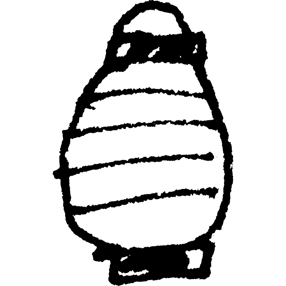 ちょうちん(長形)2のイラスト