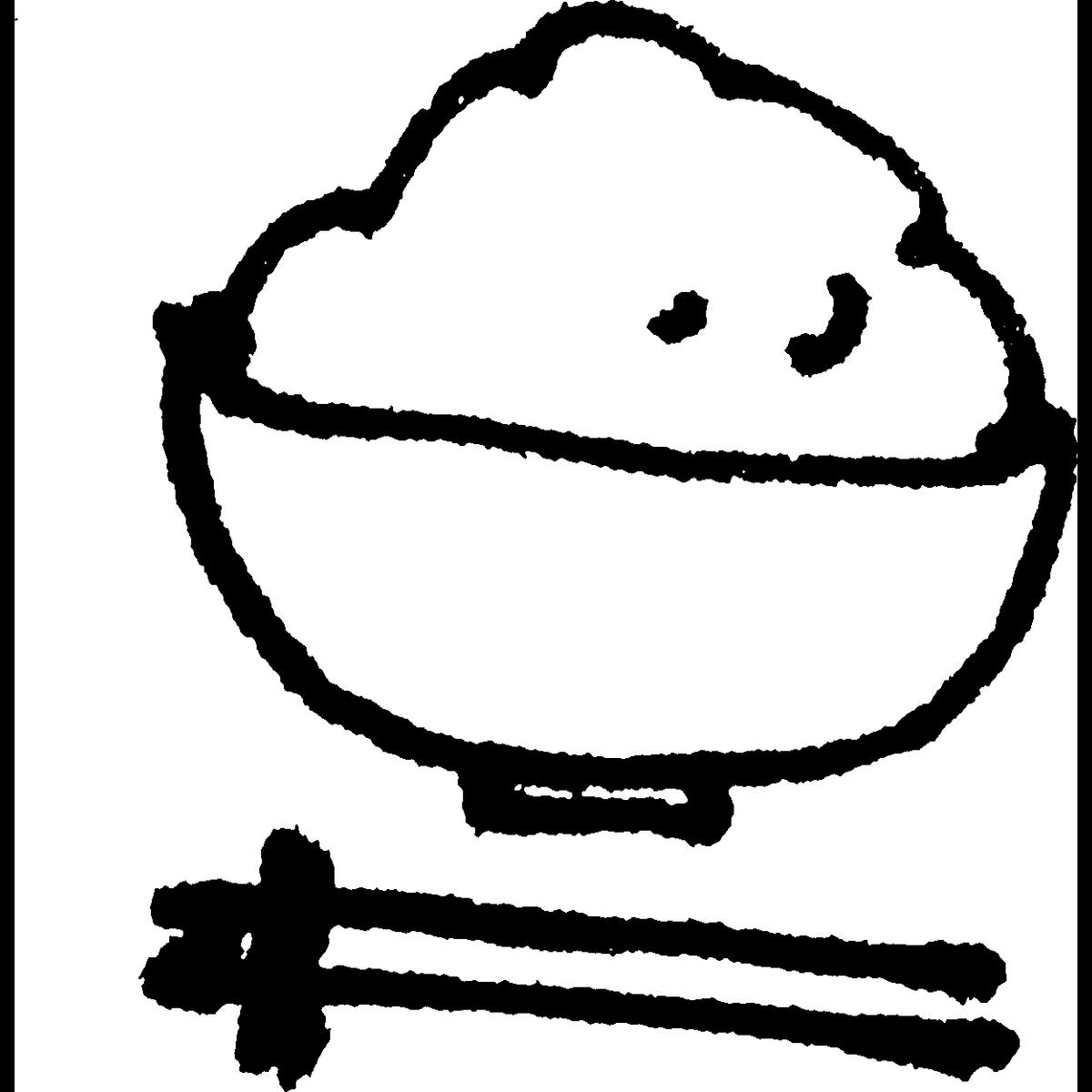 ご飯とお箸のイラスト