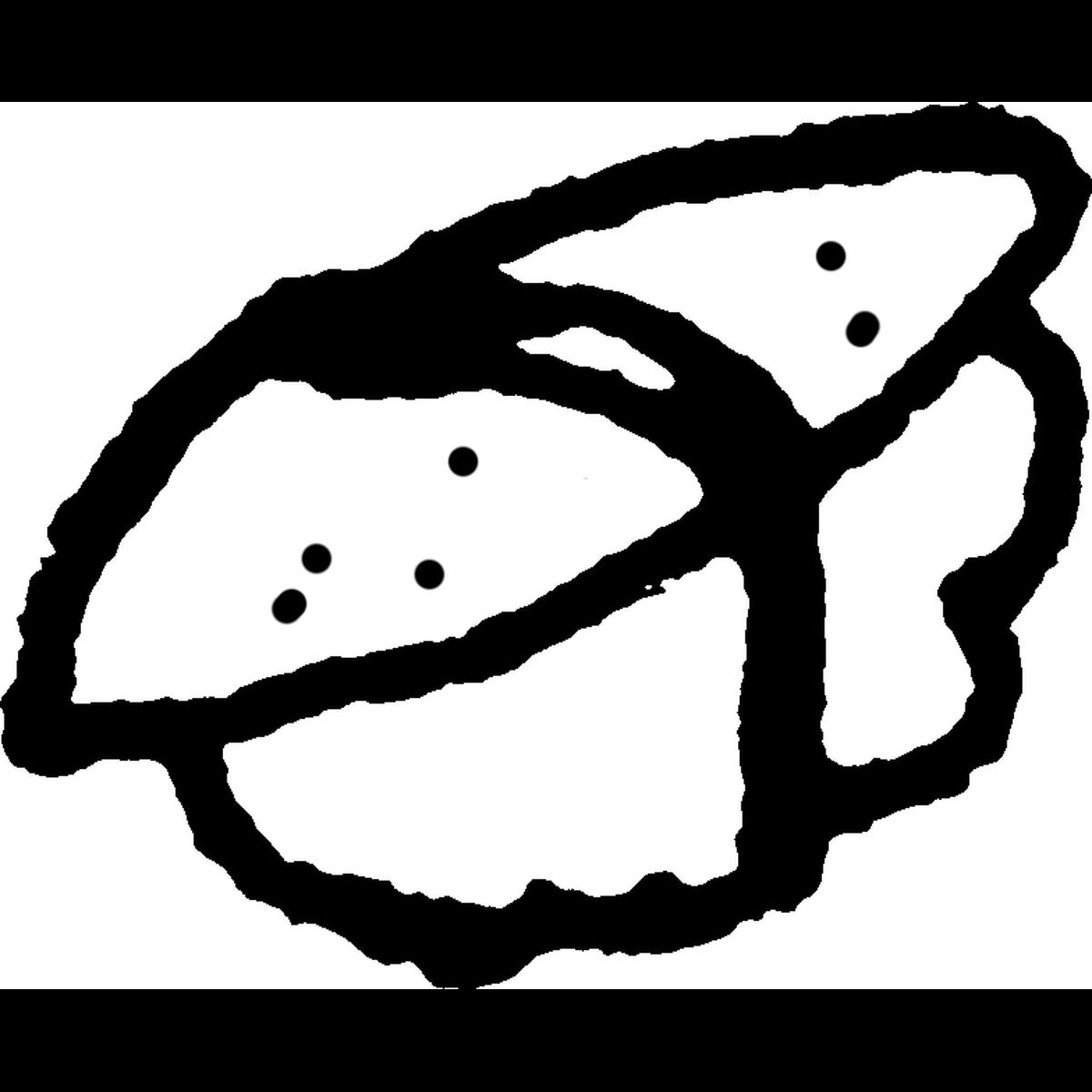寿司 にぎり 数の子のイラスト Sushi Herring roe Illust