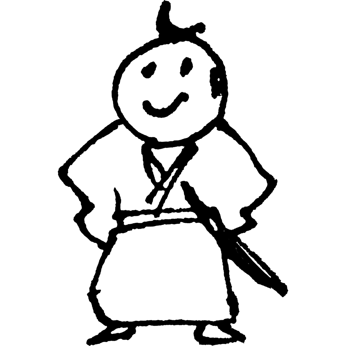侍 立ちのイラスト Samurai Stand Illust