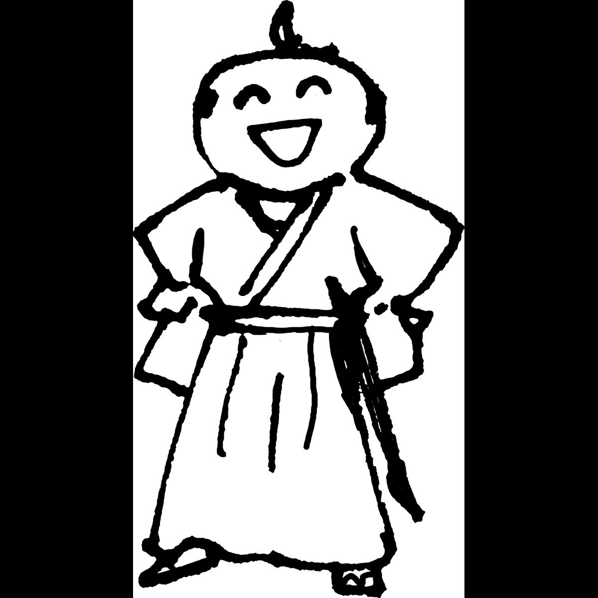 侍 胸を張るのイラスト Samurai Proudly Illust