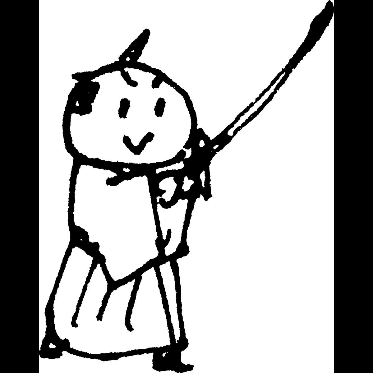侍 剣をかまえるのイラスト Samurai Hold a sword Illust