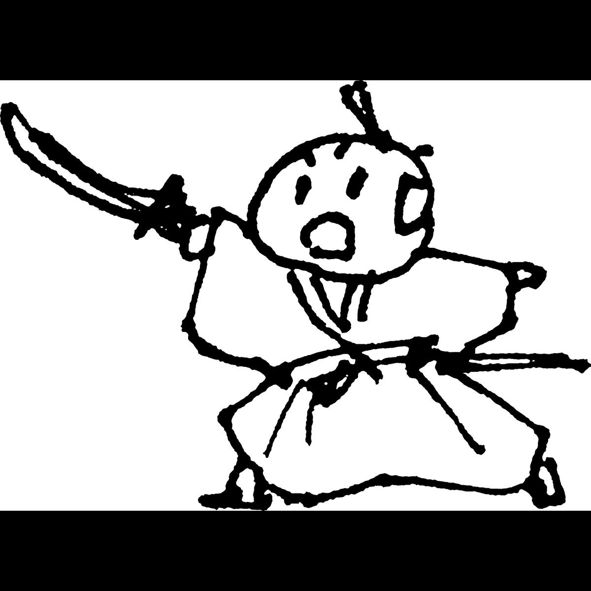 侍 剣で切るのイラスト Samurai Kill with a sword