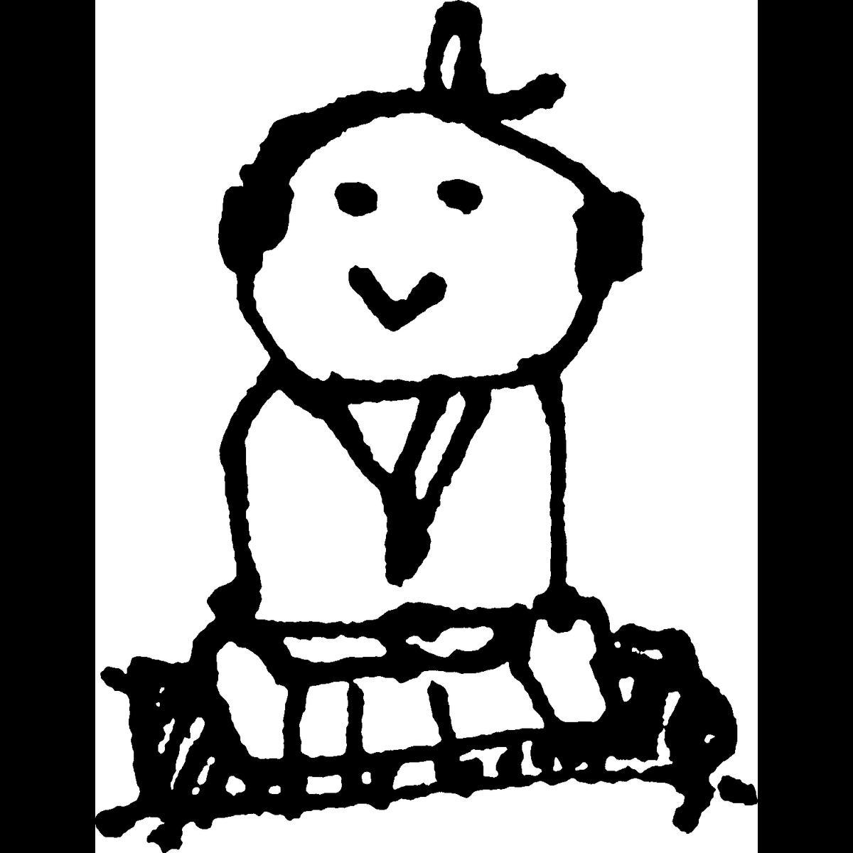 侍 正座するのイラスト Samurai Sit upright Illust