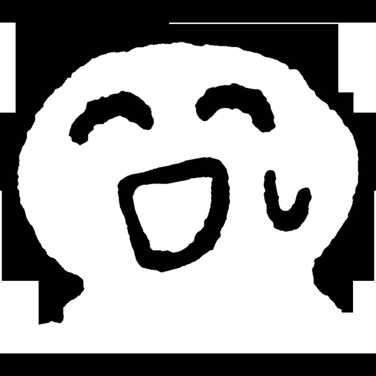 苦笑いのイラスト Bitter smile Illust