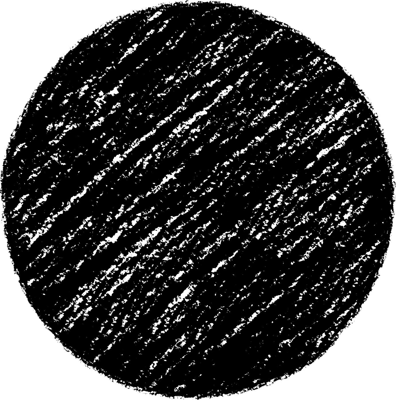 クレヨン塗り背景 新(ブラック)黒丸のイラスト sircle_black