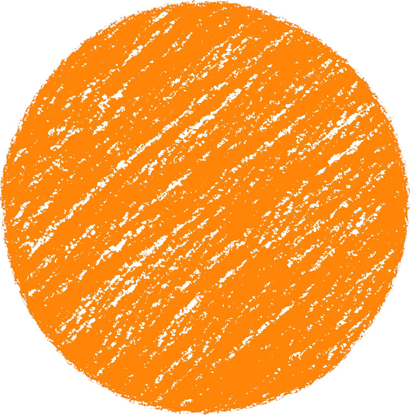 クレヨン塗り背景 だいだい色 新(オレンジ)丸 のイラスト sircle_d_orange