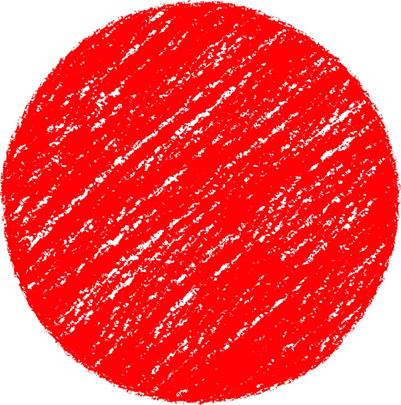 クレヨン塗り背景 赤色 新(レッド) のイラスト sircle_d_red