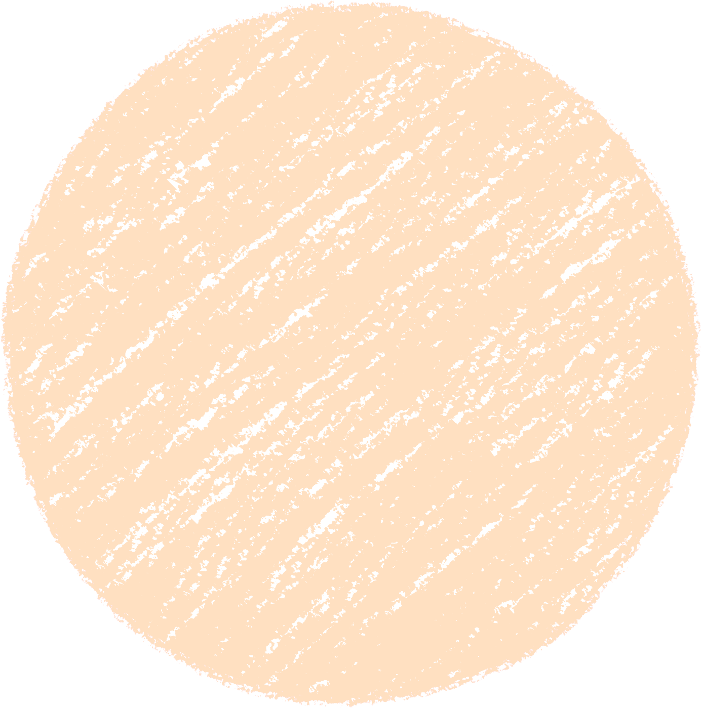 クレヨン塗り背景 だいだい色 肌色 新(オレンジ)丸 パステル のイラスト sircle_orange