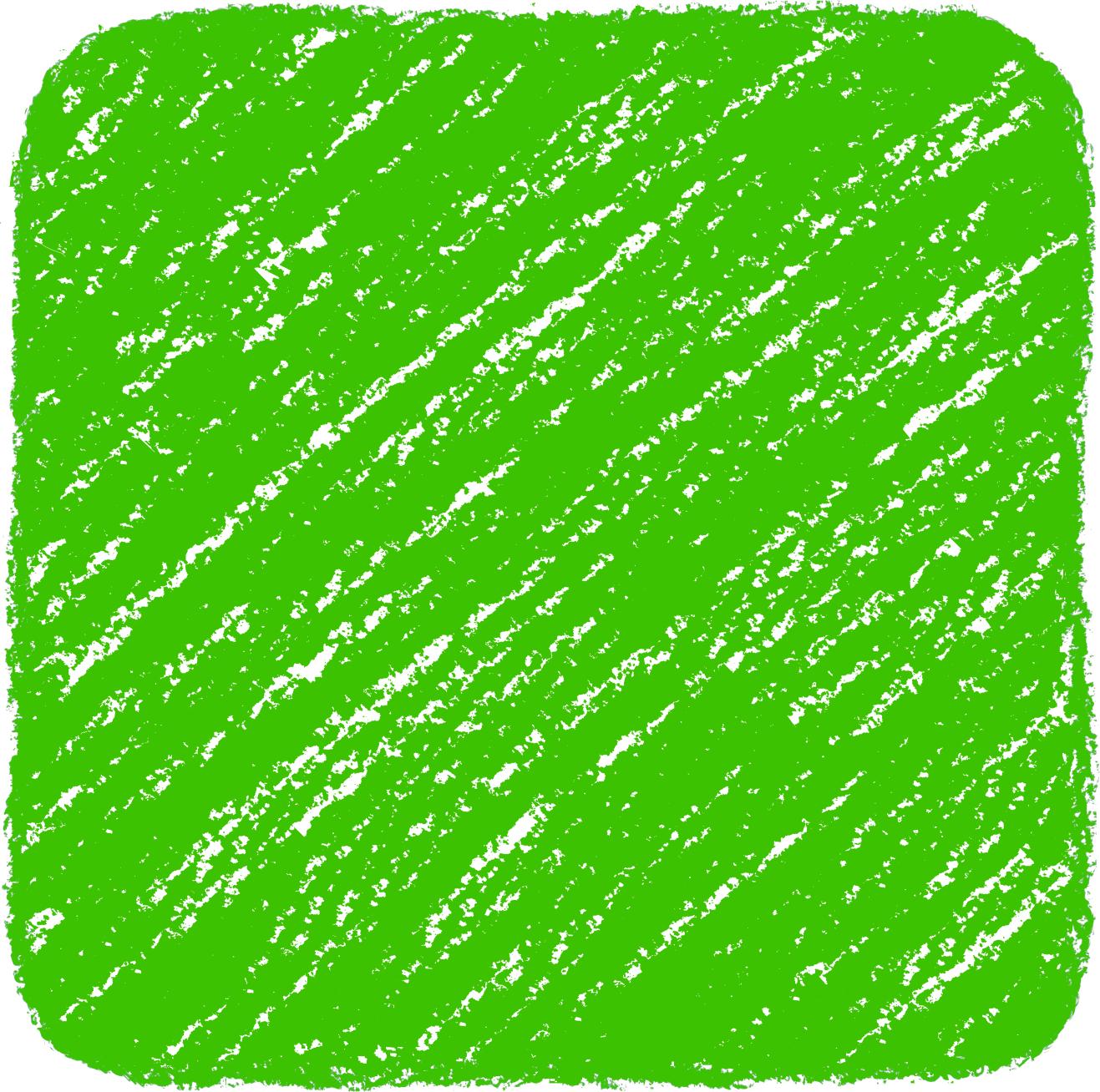 クレヨン塗り背景 緑色 新(グリーン)四角のイラスト square_green